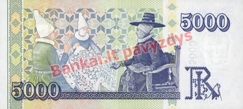 5000 Kronų banknoto galinė pusė