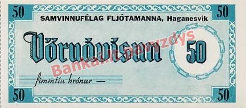 50 Kronų banknoto priekinė pusė