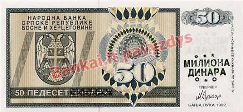 50000000 banknoto priekinė pusė