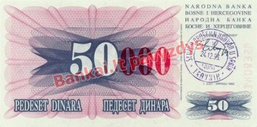 50000 Dinara banknoto priekinė pusė
