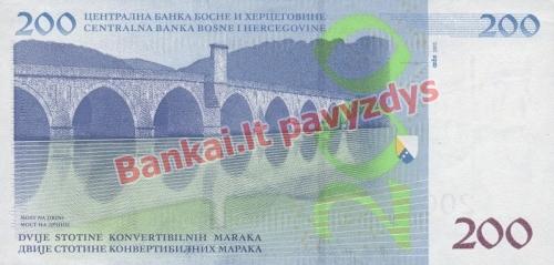 200 Markių banknoto galinė pusė