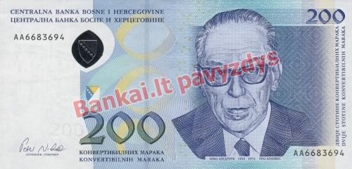 200 Markių banknoto priekinė pusė