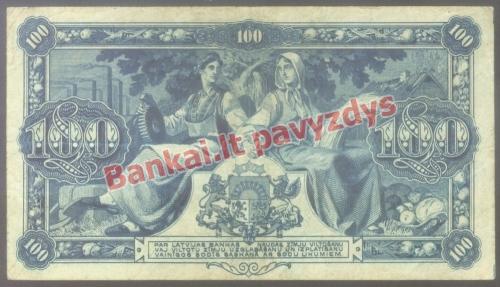 100 Latų banknoto galinė pusė
