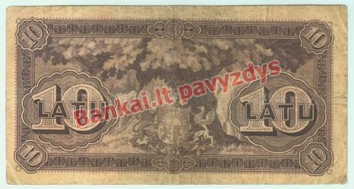 10 Latų banknoto galinė pusė