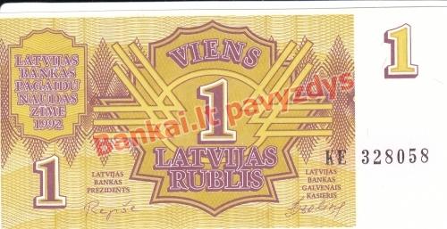1 Rublis banknoto priekinė pusė