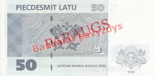50 Latų banknoto galinė pusė