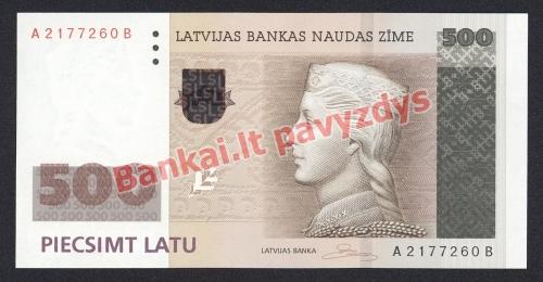 500 Latų banknoto priekinė pusė