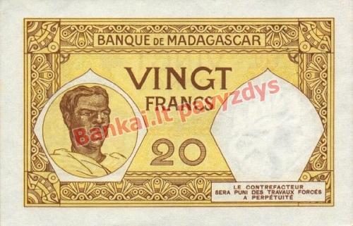 20 Frankų banknoto galinė pusė