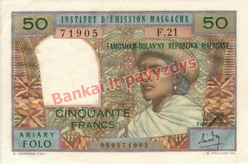50 Francs  banknoto priekinė pusė