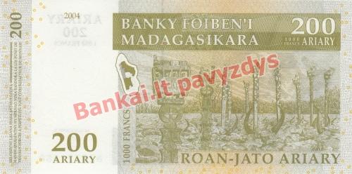200 Arairių banknoto galinė pusė