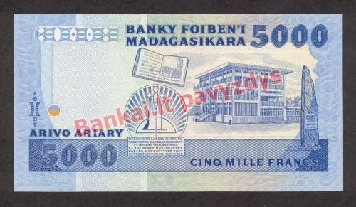 5000 Frankų banknoto galinė pusė