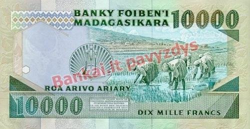 10000 Frankų banknoto galinė pusė