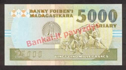 25000 Frankų banknoto galinė pusė