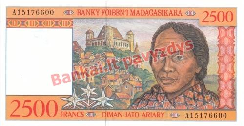 2500 Frankų banknoto priekinė pusė