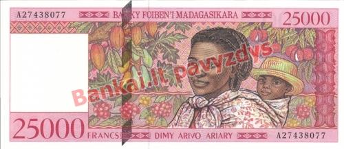 25000 Frankų banknoto priekinė pusė