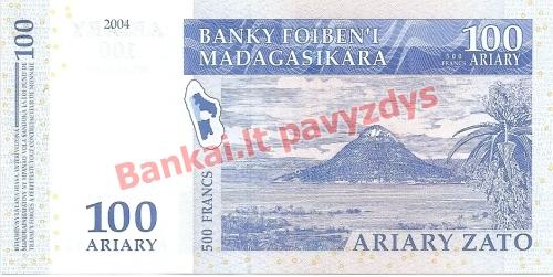 100 Arairių banknoto galinė pusė
