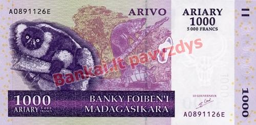 1000 Arairių banknoto priekinė pusė