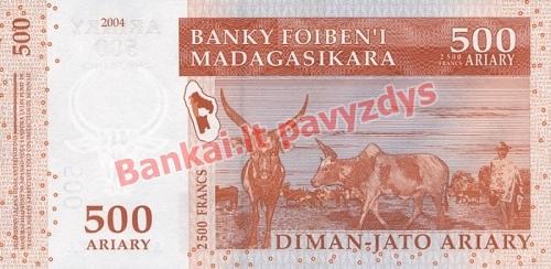 500 Arairių banknoto galinė pusė