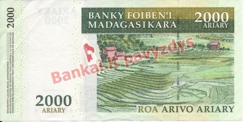 2000 Arairių banknoto galinė pusė