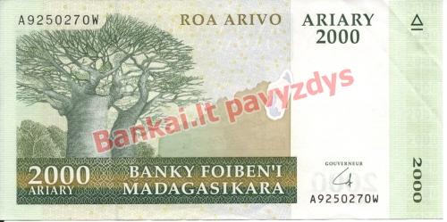 2000 Arairių banknoto priekinė pusė