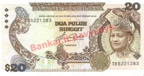 20 Ringito banknoto priekinė pusė