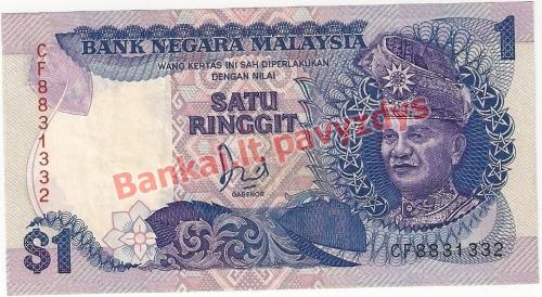 1 Ringito banknoto priekinė pusė