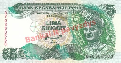 5 Ringito banknoto priekinė pusė