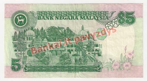 5 Ringito banknoto galinė pusė