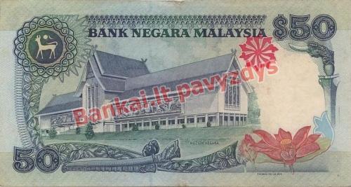 50 Ringito banknoto galinė pusė