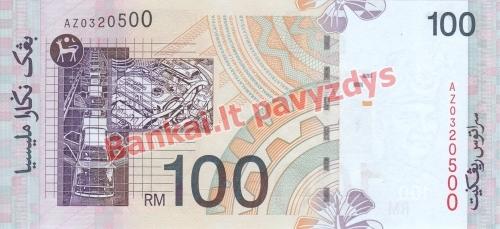 100 Ringito banknoto galinė pusė