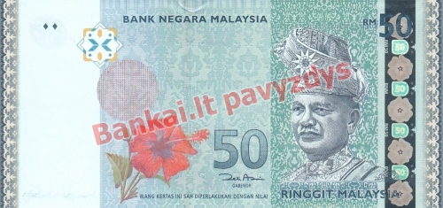 50 Ringito banknoto priekinė pusė