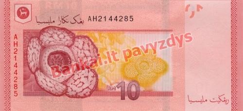 10 Ringito banknoto galinė pusė