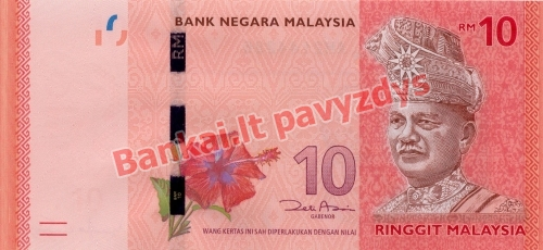 10 Ringito banknoto priekinė pusė