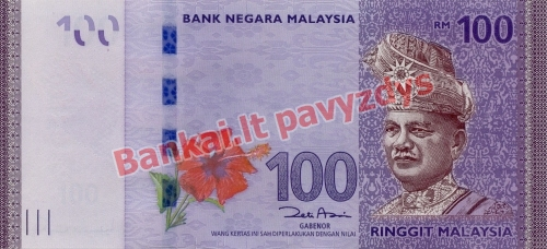 100 Ringito banknoto priekinė pusė