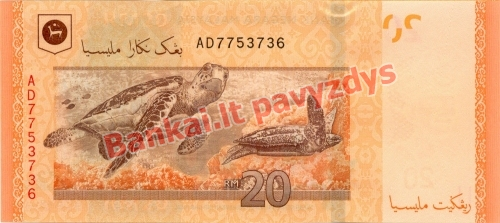 20 Ringito banknoto galinė pusė