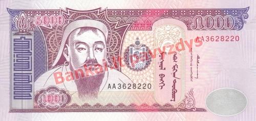 5000 Tugrikų banknoto priekinė pusė