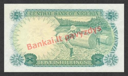 5 Šilingų banknoto galinė pusė