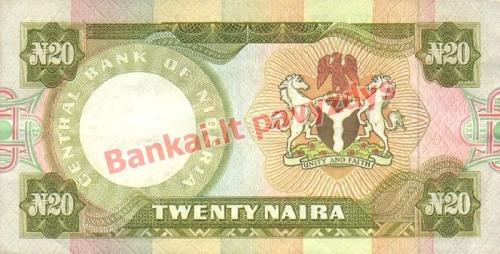 20 Nairų banknoto galinė pusė