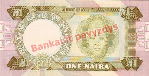 1 Nairo banknoto galinė pusė