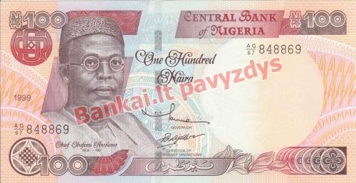 100 Nairų banknoto priekinė pusė
