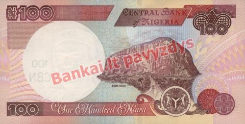 100 Nairų banknoto galinė pusė