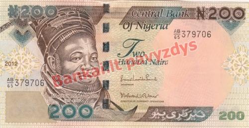 200 Nairų banknoto priekinė pusė
