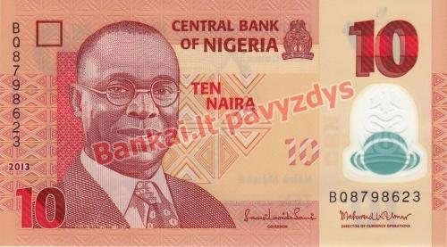 10 Nairų banknoto priekinė pusė
