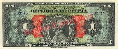 1 Balboa banknoto priekinė pusė