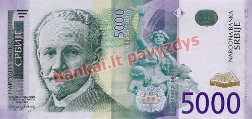 5000 Dinara banknoto priekinė pusė