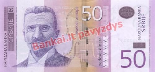 50 Dinara banknoto priekinė pusė