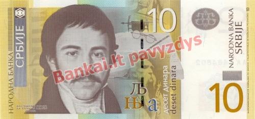 10 Dinara banknoto priekinė pusė