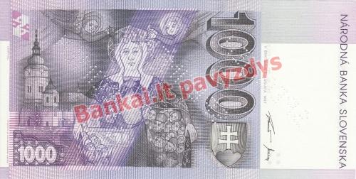1000 Korunų banknoto galinė pusė