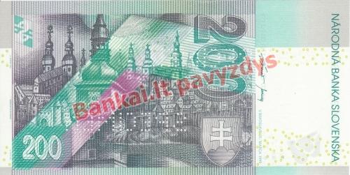 200 Korunų banknoto galinė pusė