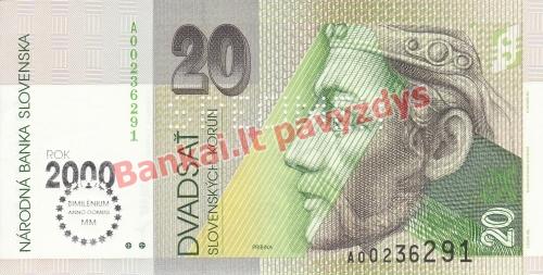 20 Korunų banknoto priekinė pusė